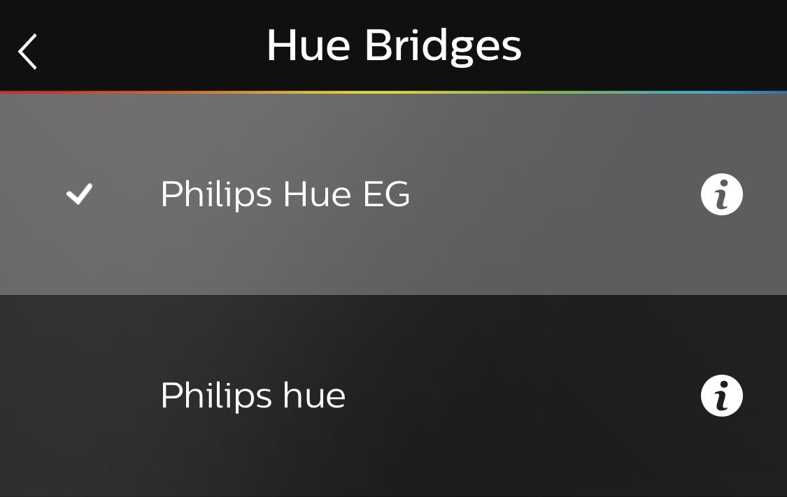 zweite Hue Bridge in Philips Hue App
