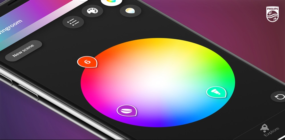 philips hue neue hue app hue sync app f r entertainment outdoor lampen. Black Bedroom Furniture Sets. Home Design Ideas