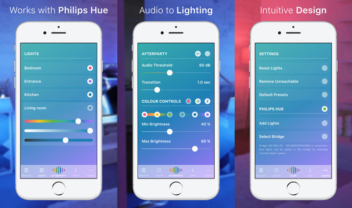 hue party ios app sorgt f r discobeleuchtung mit philips hue homekit. Black Bedroom Furniture Sets. Home Design Ideas