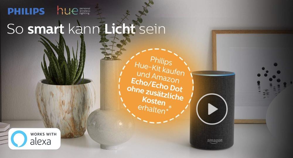 Hueblog: Philips Hue Starter Set kaufen und Amazon Echo gratis erhalten