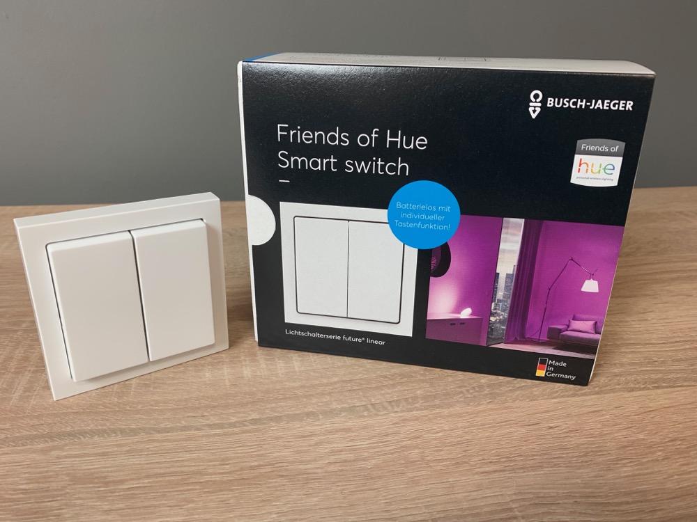 ausgepackt der friends of hue schalter von busch j ger im video. Black Bedroom Furniture Sets. Home Design Ideas