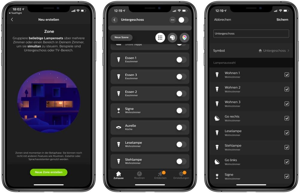 Philips Hue App Ermoglicht Neben Raumen Jetzt Auch Zonen Hueblog De