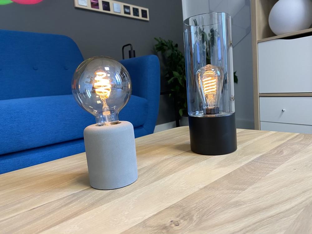 Hueblog: Måckebo und Råsegel: Zwei günstige Tischleuchten für eure Filament-Lampen
