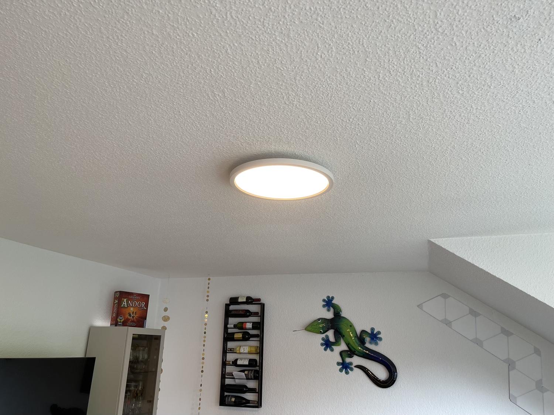 Hueblog: Philips Hue Aurelle: Runde Panelleuchte hängt jetzt bei mir im Wohnzimmer